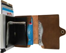 Plånbok med korthållare Safecard Konstläder Mörkbrun
