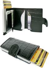 Plånbok med korthållare Safecard Kroko Svart