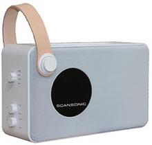 Scansonic PA4600 FM/DAB Radio med bluetooth - hvid