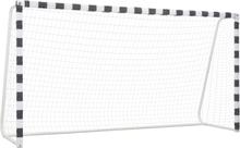 vidaXL Fotbollsmål 300x160x90 cm metall svart och vit