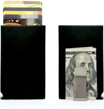 Korthållare Safecard Svart med sedelklämma