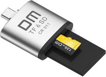 Minneskortläsare USB-C till SD / Micro SD Kortläsare Adapter