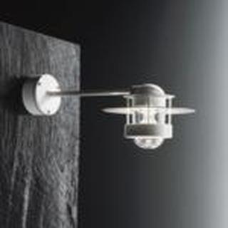 Albertslund væglampe 18w TC-TEL, kort Arm, Klar, Galvaniseret