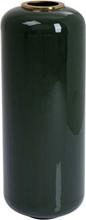 KARE DESIGN Charme vase - grøn/messing emajle/stål, rund (Ø30)