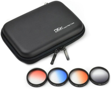 PGYTECH PGYTech Phantom 4 Pro Graduated ND Filter Set 4-pack (Grijs, Oranje, Blauw, Rood)