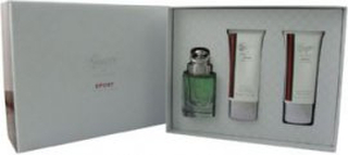 Gucci Gucci by Gucci Sport Pour Homme Gavesæt 50ml EDT + 50ml Shower Gel + 50ml Aftershave Balm