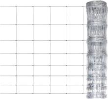 vidaXL Flätverksstängsel galvaniserat stål 50 m 100 cm