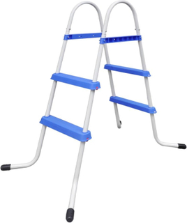 vidaXL Stålramme Svømmebasseng Stige Sklisikre trapper 86,5 cm