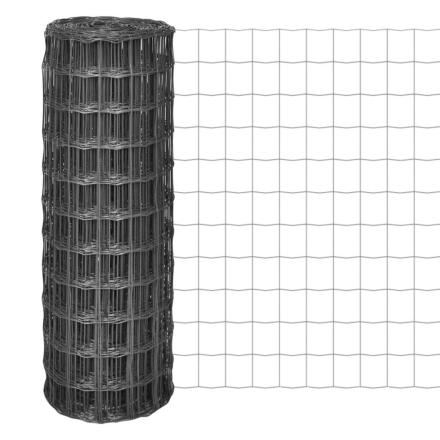 vidaXL Eurofence 25x1,7 m 100x100 mm stål grå