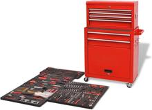 vidaXL værktøjsvogn med værktøj 7 lag