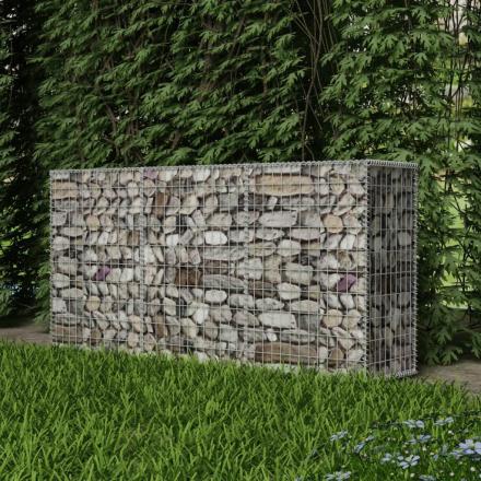 vidaXL gabion stålkurv 200x50x100 cm