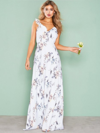 NLY Eve Flounce Me Gown Mønstret