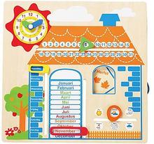 Houten kalender met jaargetijden Huis