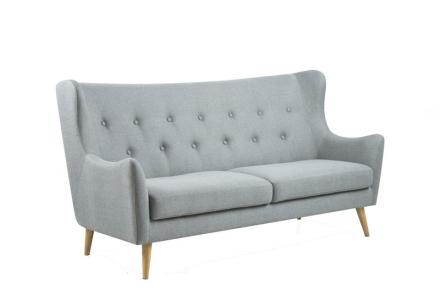 Kimmi sofa 3 seter høyrygget i lys grå.