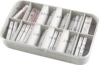 Finsikring sortiment 6,3x32 mm Flink, 315 mA - 10,0 A 120 stk.