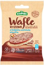 Kupiec - Wafle ryżowe z belgijską czekoladą mleczną