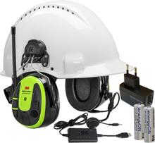 3M Peltor WS Alert XPI Hörselskydd Bluetooth med hjälmfäste, laddpaket