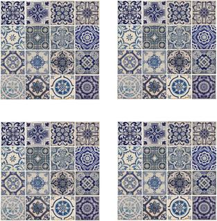 WALPLUS vægklistermærker 54 x 54 cm 4 ark spansk blå