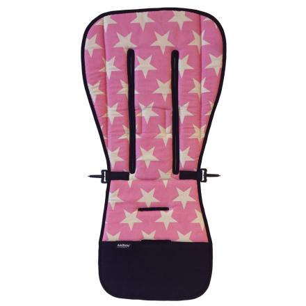 AddBaby, Lastenvaunujen istuinpehmuste, Stars Pink
