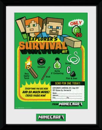 Framed Collectors Print - Games - Minecraft Survival Kit - Merchandise - CDON.COM