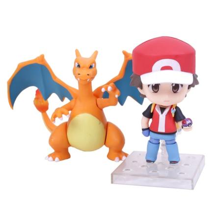 Pokemon GO Ash Ketchum Charizard Action Figure decoration - CDON.COM