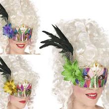 Venetiansk ögonmask med fjädrar Multicolour
