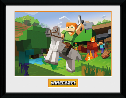 Collector print - Games - Minecraft Zombie Attack - Merchandise - CDON.COM