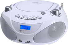 Champion Boombox CD/Radio/MP3/USB White