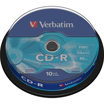 Verbatim CD-R levyt 52x 700 MB 10-pack