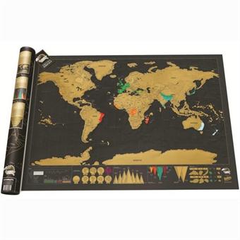 Scratch map maailmankartta