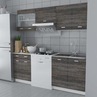 vidaXL køkkenskabsenhed 5 dele 200 cm wengelook