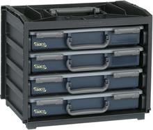 Raaco praktisk sortimentskasse 136242 med 55x4 skuffer