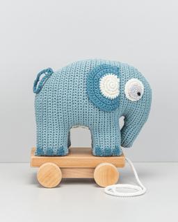 Sebra Virkad elefant Babyleksaker