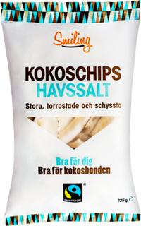 Kokoschips Havssalt, 100 g