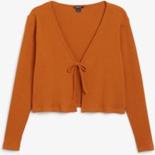 Cropped cardigan - Orange
