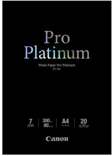 (99) Canon Papper Canon Photo Paper Pro Platinum PT-101, A4, 20 Ark