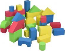 Mjuka byggklossar (30 st, färg)