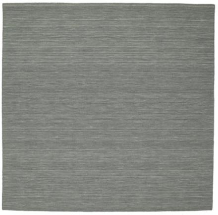 Kelim loom - Mørk grå teppe 250x250 Moderne, Kvadratisk Teppe