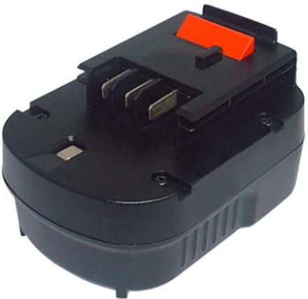 Ersättningsbatteri BLACK & DECKER 12V 3Ah Ni-MH Svart