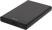 """DELTACO ulkoinen SATA-kiintolevykotelo, 2,5"""", USB 3.1 Gen 1, musta"""