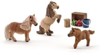 Schleich, Shetlandspony-familie, miniature