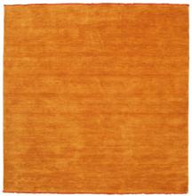 Handloom fringes - Orange matta 200x200 Modern, Kvadratisk Matta