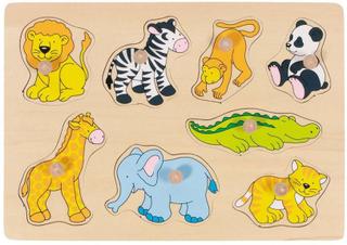Goki Træpuslespil med zoo dyr