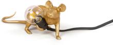 Mouse Lamp Lop Lying Down Pöytävalaisin Kulta - Seletti