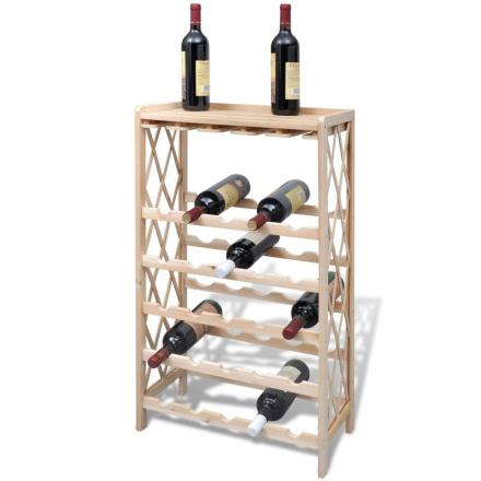 vidaXL Vinhylla i trä vinställ för 25 flaskor