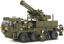 Sluban Byggblock Army Serie Heavy Equipment Transporter