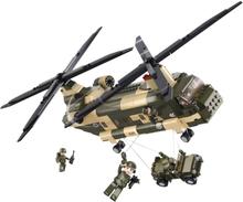 Sluban Byggblock Armé-serien Transporthelikopter