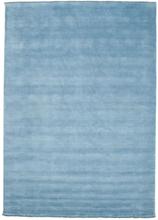 Handloom fringes - Ljusblå matta 250x350 Modern Matta