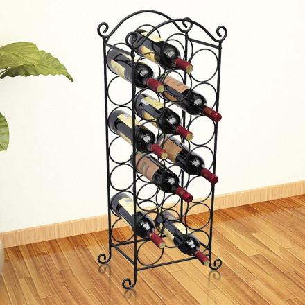 vidaXL Vinställ för 21 flaskor