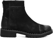 Green Comfort Zipper Boot Black
